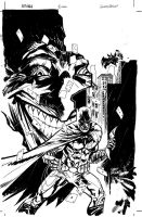 Batman Joker cover inks by thisismyboomstick