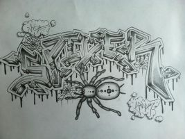 Spider Graffiti Piece by ColinPD