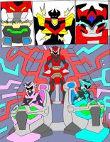 MegaZord Transformation 5 by NickinAmerica
