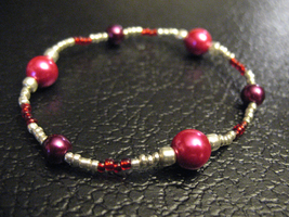 Red Magnetic Bead Bracelet by sampdesigns