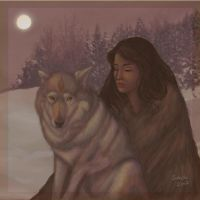 Evig is - Eyolda with wolf by Sukeile