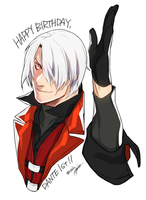 scribble : Happy Birthday, Dante! by kugelcruor