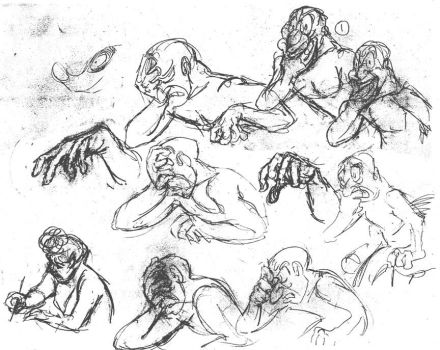 Woe Is Me Sketches by MiltonKnight