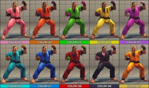 Dan Colour Pack - SF4 mod by Jiggeh