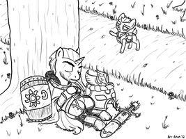 The Knight and The Fawn by Art-Anon
