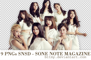 9 PNGs SNSD _Sone Note Magazine _By Mynie by bttmy
