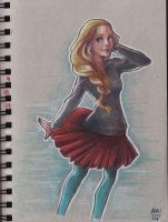 Toned Paper Commissh - Maybellete by Ay-u