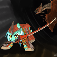 GANT: Pony with a blade by lKittyTaill