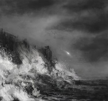 Maglor casts away the Silmaril - Speed Painting by WisesnailArt