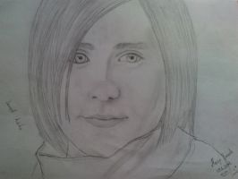 Jared Leto drawing by Mary-Aurora