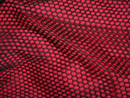 Red Behind Black Net 03..... by Shadukha-Stock