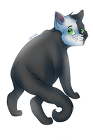 Green Eyed and Bushy Tailed by luckyveda