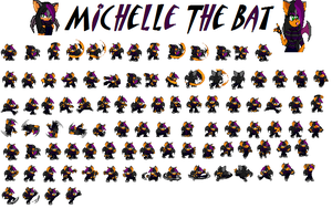 Updated Sprite sheet by GothicPrincess34