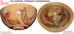 Koi Fishbowl Pyrograph (Woodburning) by snazzie-designz