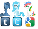Tumblr, Tiwtter, and Google pony by cutegal129