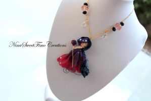 Witch violettine by NinaFimoCreations