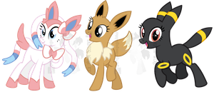 [CLOSED] PONYMON ADOPTABLES #1 EEVEELUTIONS by partylikeapegasister
