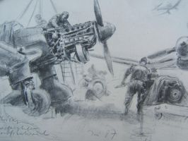 Repairing the Stukas... by TomfromHun