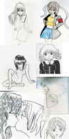 Sketchbook Drawings from 2011 dump stuff by rinatan-chu