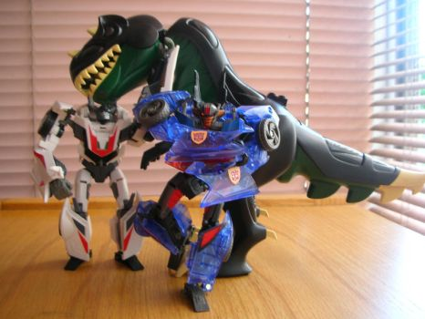 Grimlock II and the Jackies by BlueSpiritFire1