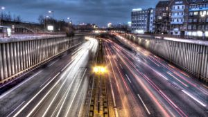 berlin city autobahn at night by ChristianRudat