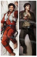 Poe Dameron Pillow by Brilcrist