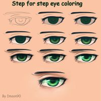 Step for step eye coloring by Imoon90