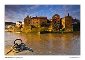 Staithes Harbour by henroben