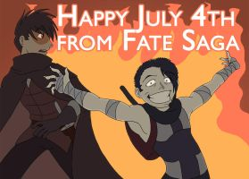 Fate Saga: Happy July 4 by neo-dragon