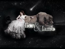 Lion And Lamb Wallpaper by TheSearchingEyes