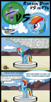Rainbow Dash vs an F16 by Neutronicsoup