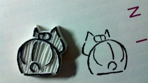 natsume yuujinchou - rubber stamp by dunkleLamm
