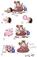 Chibi Hedgies 06 - Happy Easter by Chonik-the-Porcopine