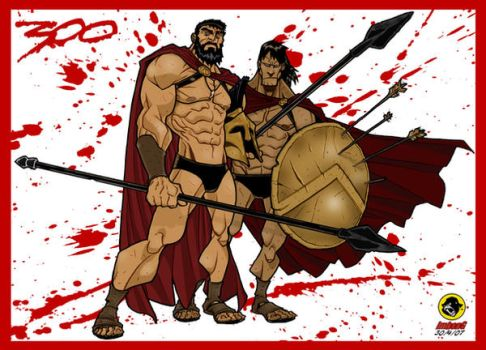 300: Leonidas and Stelios by BongzBerry