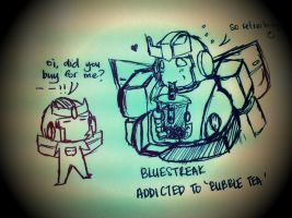 Doodles:Bluestreak and Energon bubble tea by shinfua