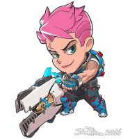 Cute But Deadly Zarya by NorseChowder
