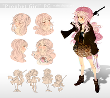 'Prophet Girl' Design Sheet by celiere