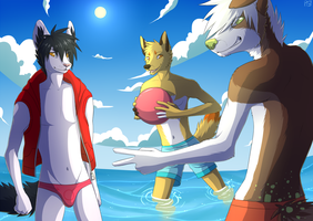 swimming anime by Pyttinski