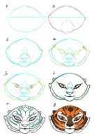 How I draw Tigress-Face by kyomitsu