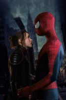 Shadowcat and Spider-Man by DComp