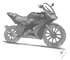 Motorcycle by Lina-Trinch