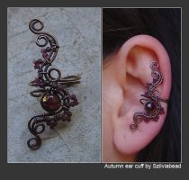 Autumn ear cuff by bodaszilvia