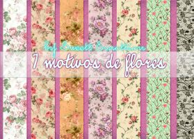 7 Motivos de flores by SweettEmottion