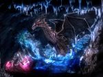 Dragon vs mage by Sferio