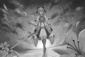 Gray Scale Practice (Saber Lily) by Mugen-ki