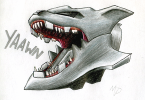 Steelix head drawing colored