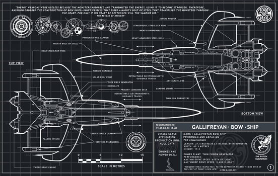 Gallifreyan Bow Ship Gray-Print Page 1 by Time-Lord-Rassilon