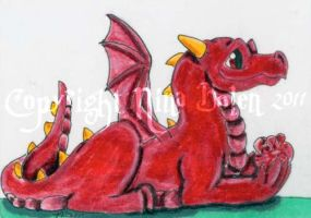 Birthstone Dragon January ACEO by The-GoblinQueen