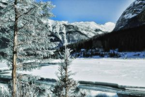 The Town of Field in Winter by skip2000