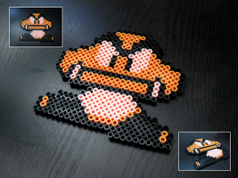 Goomba - Perler Beads by Adamzworld